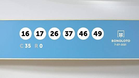 Sorteo de la Lotería Bonoloto del 07/07/2021