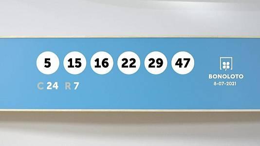 Sorteo de la Lotería Bonoloto del 08/07/2021