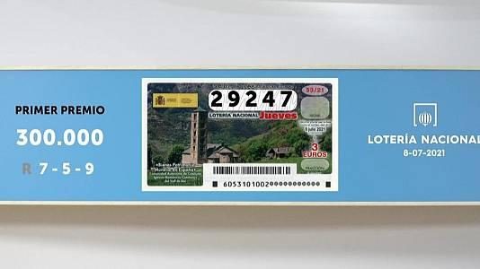 Sorteo de la Lotería Nacional del 08/07/2021
