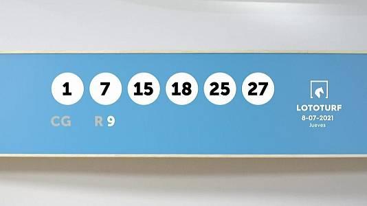 Sorteo de la Lotería Lototurf del 08/07/2021