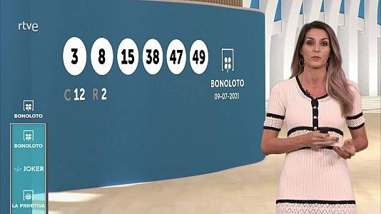 Sorteo de la Bonoloto y Euromillones del 09/07/2021