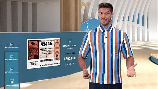 Sorteo de la Lotería Nacional del 10/07/2021