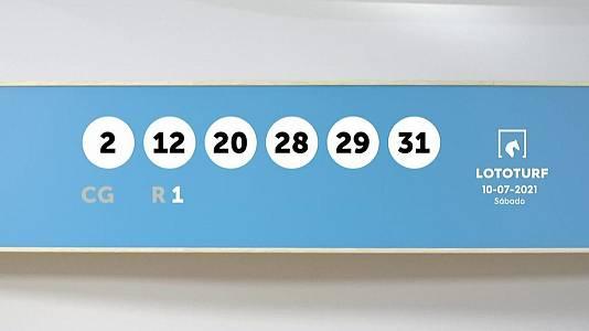 Sorteo de la Lotería Lototurf del 10/07/2021