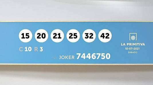 Sorteo de la Lotería Primitiva y Joker del 10/07/2021