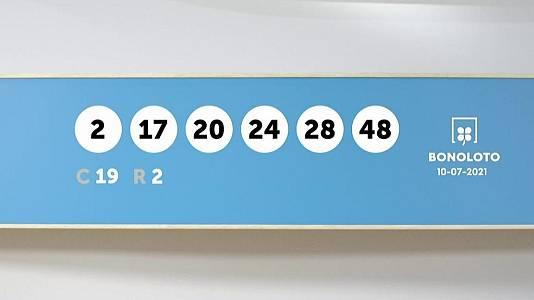 Sorteo de la Lotería Bonoloto del 10/07/2021