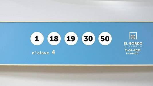 Sorteo de la Lotería Gordo de la Primitiva del 11/07/2021