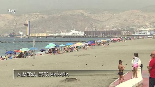 Temperaturas significativamente altas en el extremo sudeste peninsular, con temperaturas que localmente pueden llegar a 43-44 grados en Valencia, Alicante y Murcia