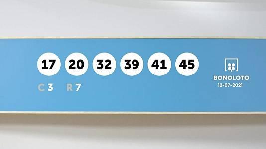 Sorteo de la Lotería Bonoloto del 12/07/2021