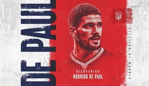 Rodrigo de Paul, nuevo jugador del Atlético de Madrid