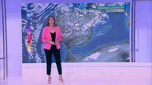 Descenso notable de temperaturas en Baleares, este de Canarias y sur del área mediterránea peninsular, localmente extraordinario en el área litoral del Levante. Intervalos de viento fuerte en el bajo Ebro