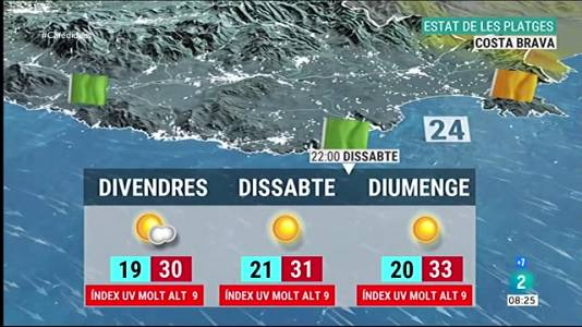 Les platges a Catalunya aquest cap de setmana