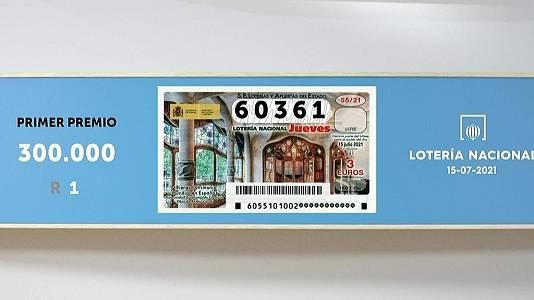 Sorteo de la Lotería Nacional del 15/07/2021
