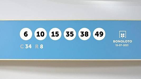 Sorteo de la Lotería Bonoloto del 15/07/2021