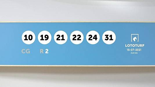 Sorteo de la Lotería Lototurf del 15/07/2021
