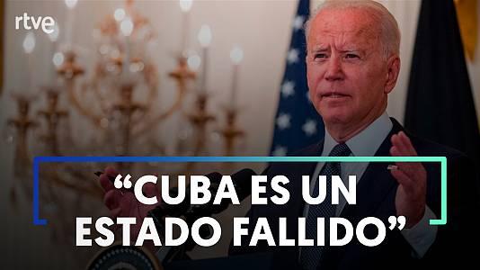 Biden asegura que están buscando la forma de restablecer el acceso a internet en Cuba