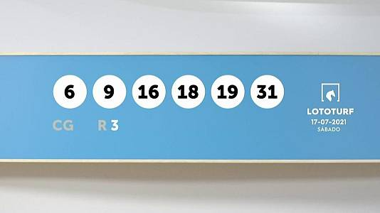 Sorteo de la Lotería Lototurf del 17/07/2021