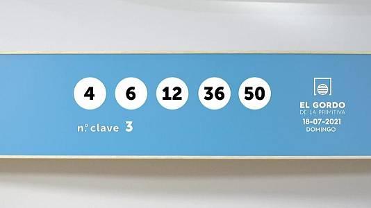 Sorteo de la Lotería Gordo de la Primitiva del 18/07/2021