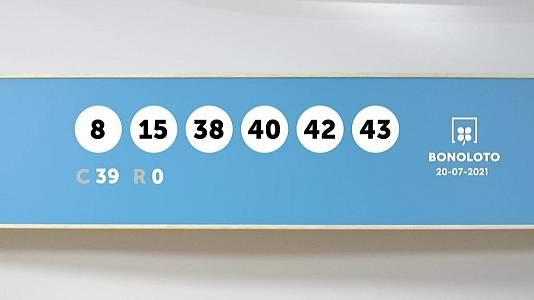 Sorteo de la Lotería Bonoloto y Euromillones del 20/07/2021