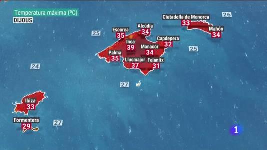 El temps a les Illes Balears - 21/07/21