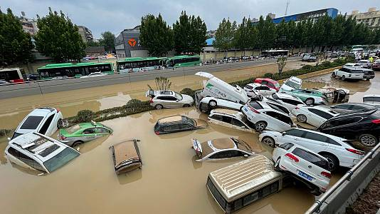 Lluvias históricas en China