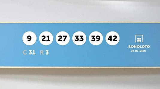 Sorteo de la Lotería Bonoloto del 21/07/2021