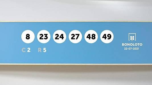 Sorteo de la Lotería Bonoloto del 22/07/2021