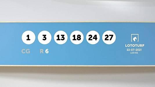 Sorteo de la Lotería Lototurf del 22/07/2021