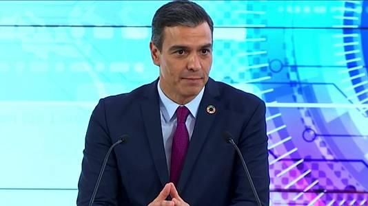Rueda de prensa de Pedro Sánchez en EE.UU.