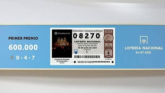 Sorteo de la Lotería Nacional del 24/07/2021