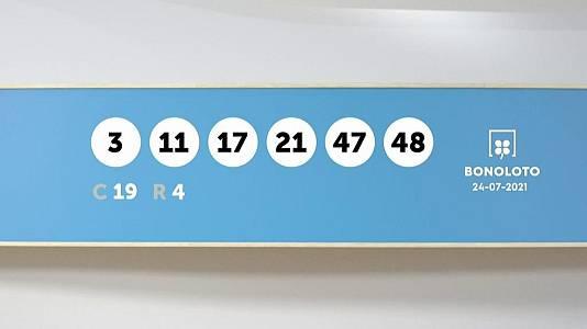 Sorteo de la Lotería Bonoloto del 24/07/2021