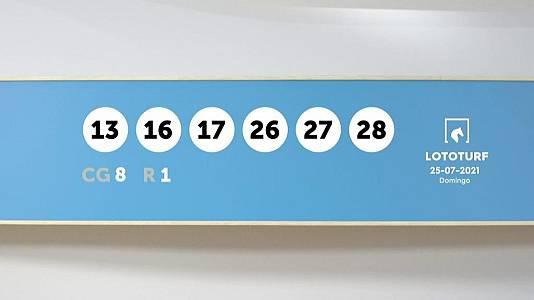 Sorteo de la Lotería Lototurf del 25/07/2021