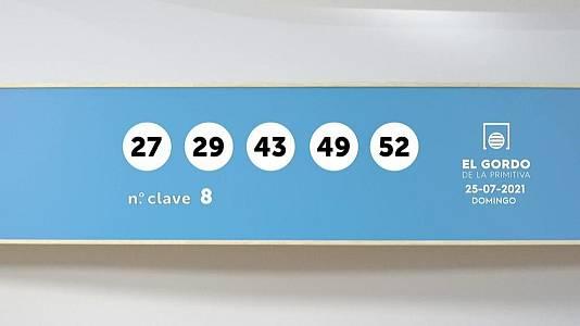 Sorteo de la Lotería Gordo de la Primitiva del 25/07/2021