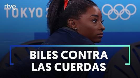 Simone Biles a 332 milésimas de ser destronada por la brasileña Rebeca Andrade