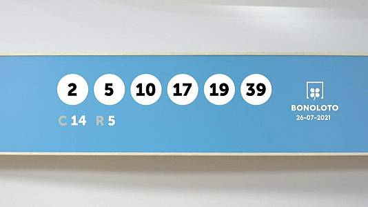 Sorteo de la Lotería Bonoloto del 26/07/2021