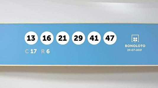 Sorteo de la Lotería Bonoloto del 29/07/2021