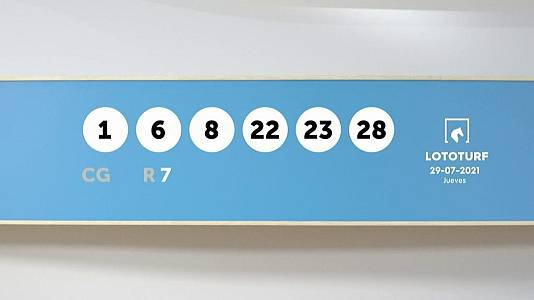 Sorteo de la Lotería Lototurf del 29/07/2021