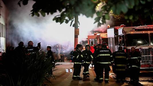 Incendio en la cinemateca de Brasil