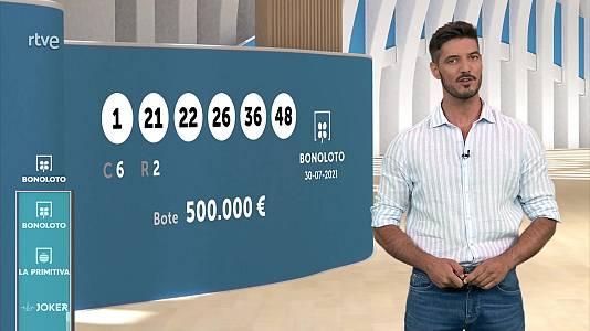 Sorteo de la Bonoloto y Euromillones del 30/07/2021