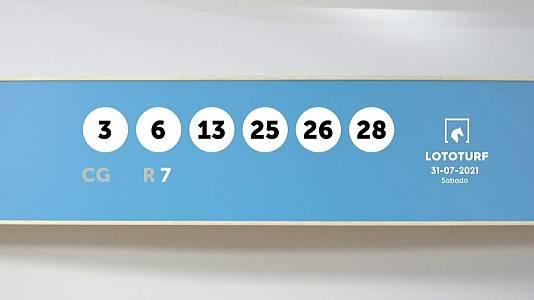 Sorteo de la Lotería Lototurf del 31/07/2021