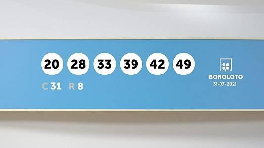 Sorteo de la Lotería Bonoloto del 31/07/2021