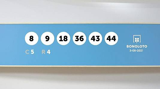 Sorteo de la Lotería Bonoloto y Euromillones del 03/08/2021