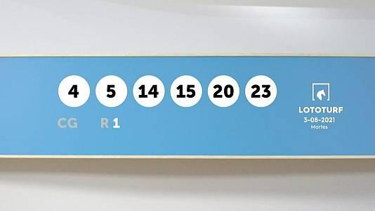 Sorteo de la Lotería Lototurf del 03/08/2021