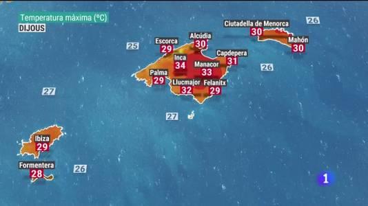El temps a les Illes Balears - 04/08/21