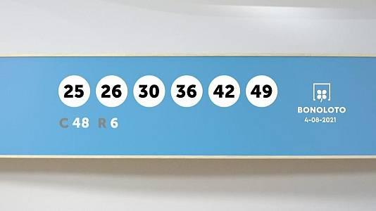Sorteo de la Lotería Bonoloto del 04/08/2021