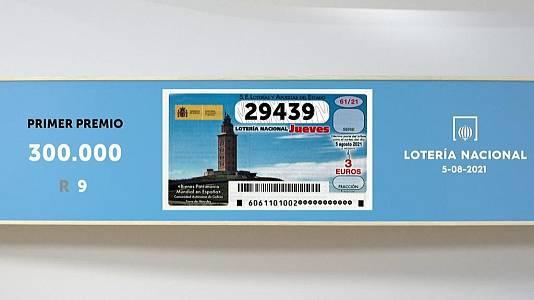 Sorteo de la Lotería Nacional del 05/08/2021