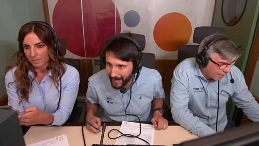 La emoción de Paco Caro, Eli Pinedo y Alberto Urdiales