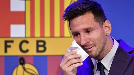 Rueda de prensa de Leo Messi para explicar su adiós al Barça