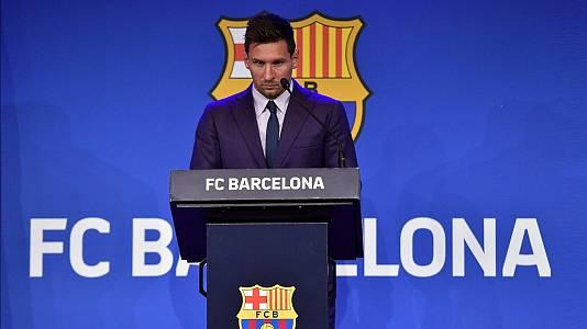 Rueda de prensa de Leo Messi