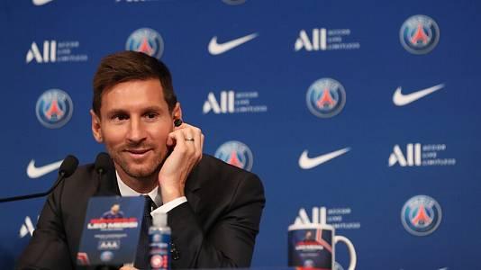 Presentación de Leo Messi como nuevo jugador del PSG