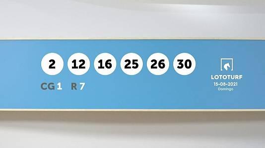 Sorteo de la Lotería Lototurf del 15/08/2021